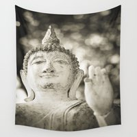 religious Wall Tapestries featuring Buddha in Sukhothai by Maria Heyens