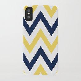 Navy & Yellow Chevron iPhone Case