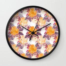 Retro Summer Flower Bouquet On White Background #decor #society6 #buyart Wall Clock