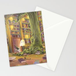 The  library Stationery Cards