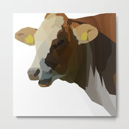 Hilarious Cow Metal Print