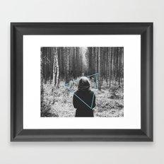 Color in the Woods Framed Art Print