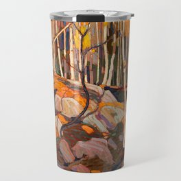 Tom Thomson ‑ Birch Grove, Autumn - Canada, Canadian Oil Painting - Group of Seven Travel Mug
