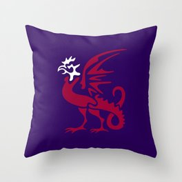 Myths & monsters: basilisk Throw Pillow