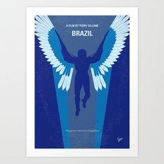 No643 My Brazil minimal movie poster Art Print