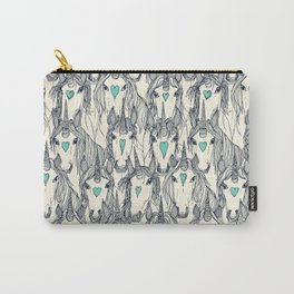 unicorn love indigo mint pearl Carry-All Pouch