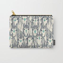 unicorn love indigo mint pearl Carry-All Pouch