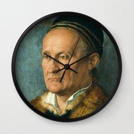 Portrait of Jakob Muffel by Albrecht Durer Wall Clock
