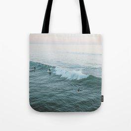 Let's Surf V Tote Bag