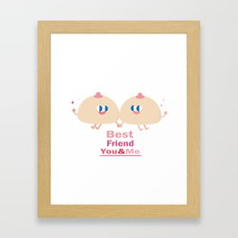 best friend-you and me Framed Art Print