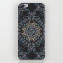 Purple Black Lime Design iPhone Skin