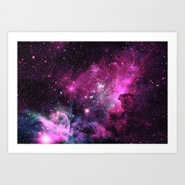 Magenta Teal Purple Carina Nebula Art Print
