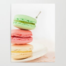 Macaron, Macarons, Macaroons, Tiny Silver Fork Poster