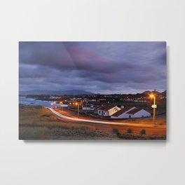 Village in twilight Metal Print