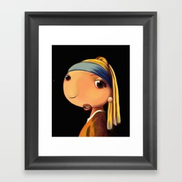 Girl with a Pearl Earring Framed Art Print