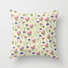 Field of Wild Flowers Throw Pillow