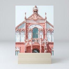 Hospital Of Barcelona Sant Pau Facade Print, Modernist Architecture Urban City Details, Famous Landmark Art Print Mini Art Print