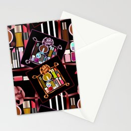 Set of cosmetics and perfumes . Stationery Cards