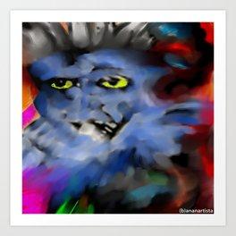 The grand grimoire (horror painting) Art Print