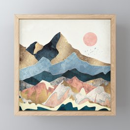 Golden Peaks Framed Mini Art Print