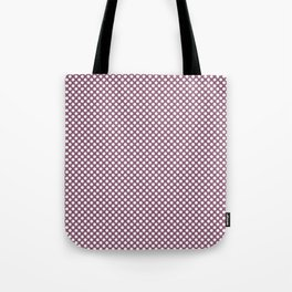 Grape Nectar and White Polka Dots Tote Bag