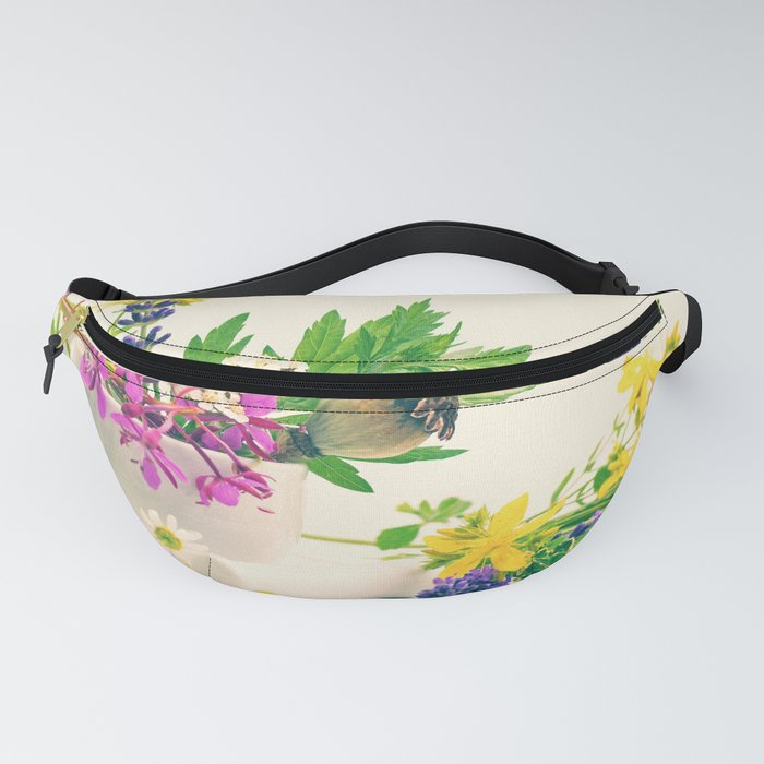 wild herbs still life, discreet design from nature Fanny Pack