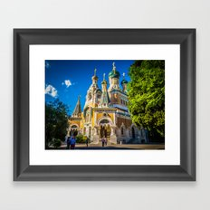 Russian Orthodox Cathedral, Nice France Framed Art Print