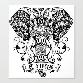 Giant Elephant Head sketch Canvas Print