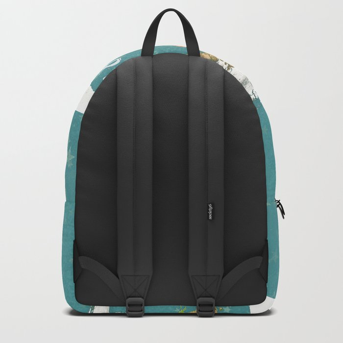 Teal World Star Map Backpack