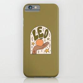 Leo Grapefruit iPhone Case