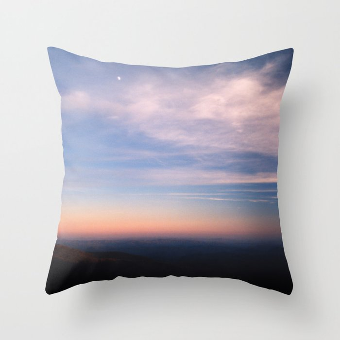 Moon Over Boone Throw Pillow