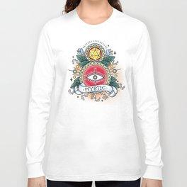 Mystic - Vintage D&D Tattoo Long Sleeve T-shirt