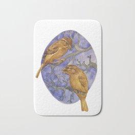 Two Winter Sparrows Bath Mat