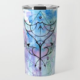 Сramp - fish ~ watercolor geometry graphic Travel Mug