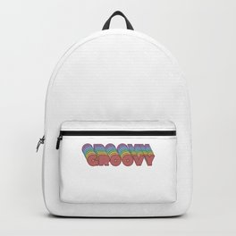 Retro 3D 60s Gift Vintage Groovy Disco 70s Gift Backpack