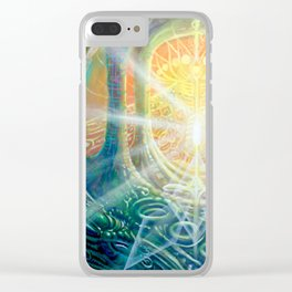 """Light Temple"" by Adam France Clear iPhone Case"