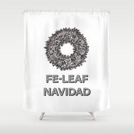 Feleaf Navidad Shower Curtain