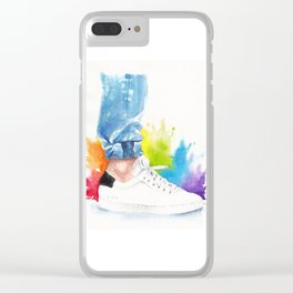 You can tell a man by his ankle: The Power Activated (Louis Tomlinson) Clear iPhone Case