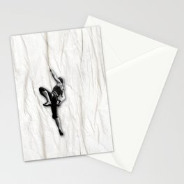 Woman Climbing a Wrinkle Stationery Cards