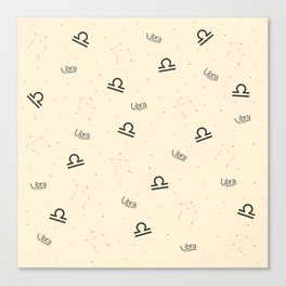 Libra Pattern - Beige Canvas Print