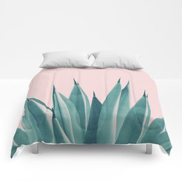 Blush Agave Dream #1 #tropical #decor #art #society6 Comforters