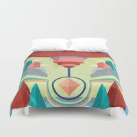 chandelier Duvet Covers featuring Chandelier by MattBlanksArt