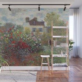 Claude Monet - The Artist's Garden in Argenteuil, A Corner of the Garden with Dahlias Wall Mural