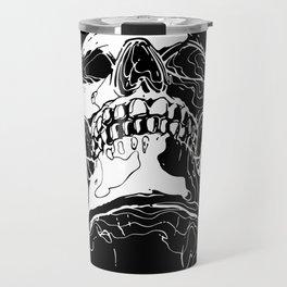 Carnibal / Ink Skull / White Travel Mug