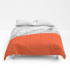 Marble and flame color Comforters