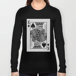 King of Spades Skull Head Long Sleeve T-shirt