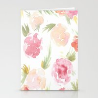 "hawaiian Stationery Cards featuring ""Hawaiian"" by  Tori Wise Watercolors"