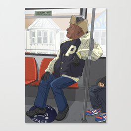 Mr P on the No. 5 Canvas Print