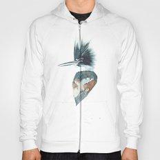 Kingfisher Watercolour Portrait Hoody