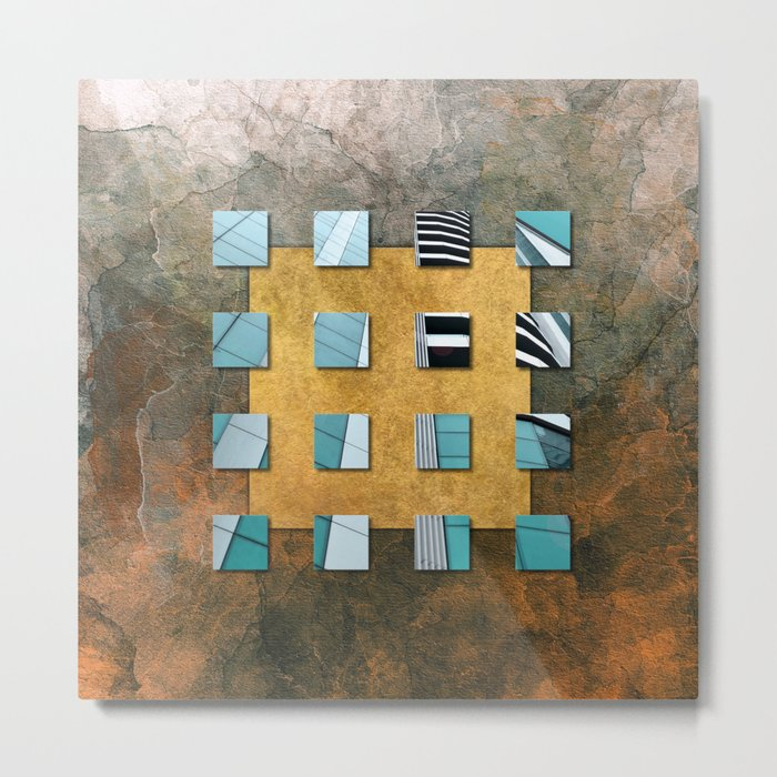 SQUARE AMBIENCE - Natural Lines Metal Print